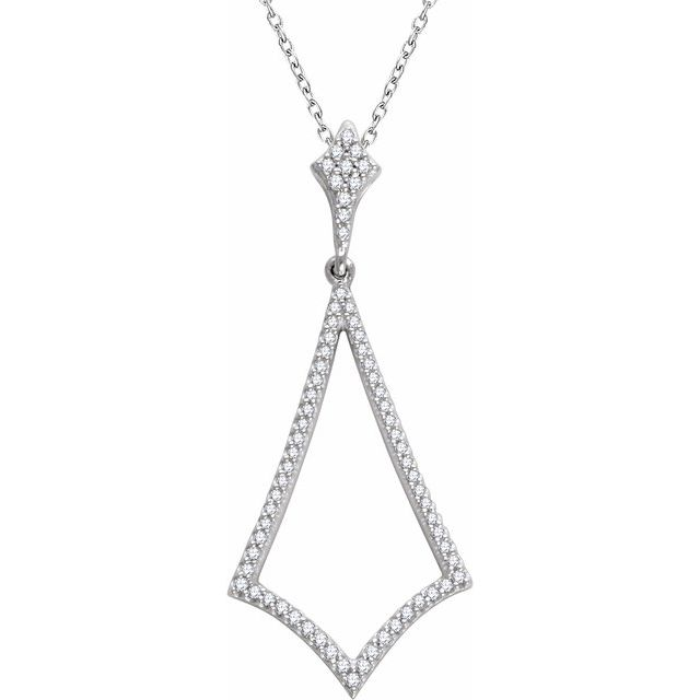14K Yellow 1/4 CTW Diamond Pendant