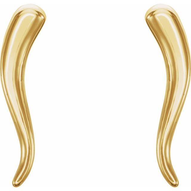 14K Yellow Horn Earrings