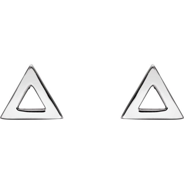 Sterling Silver Triangle Earrings