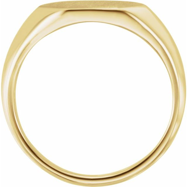 14K Yellow 12x10 mm Geometric Signet Ring