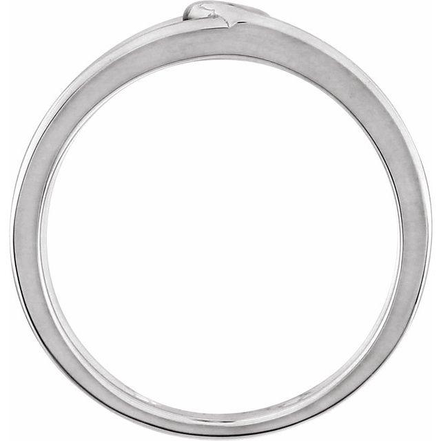 14K White Rope Design Ring Size 7