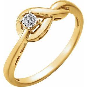 14K Yellow .04 CT Diamond Ring