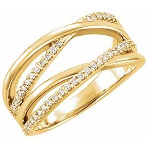 Set 1/5 CTW Diamond Criss-Cross Ring