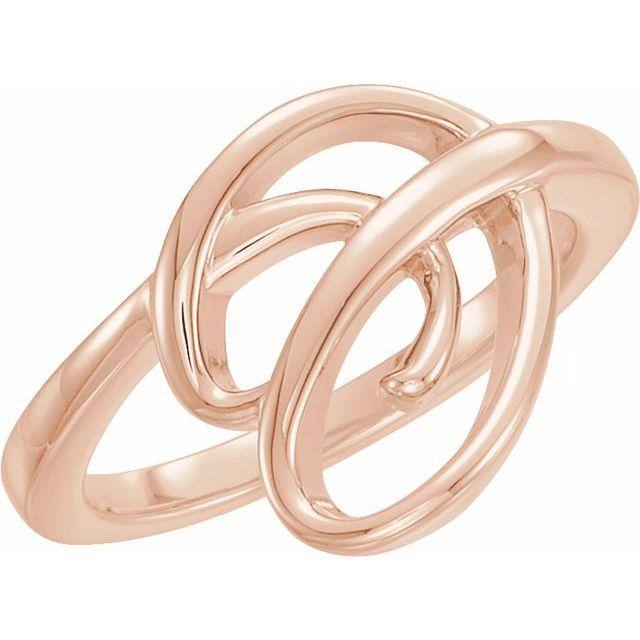 14K Rose Freeform Ring