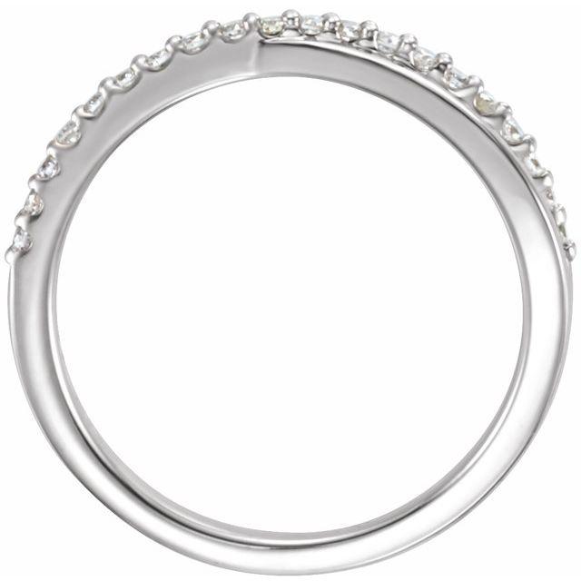 14K White 1/5 CTW Diamond Criss-Cross Ring