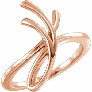 14K Rose 20.9 mm Freeform Ring