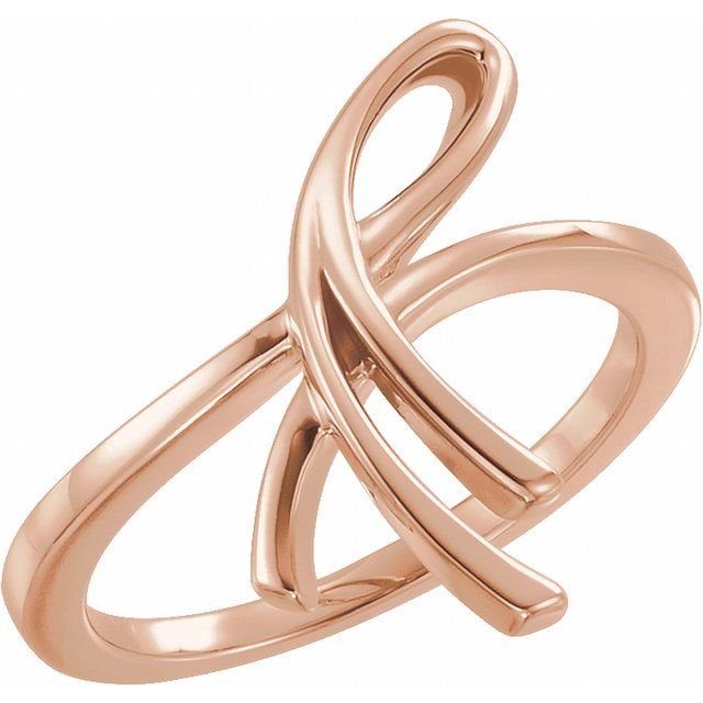 14K Rose 20.9 mm Freeform Ring