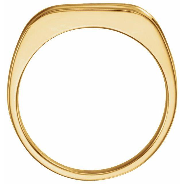 14K Yellow Men-s Grooved Ring