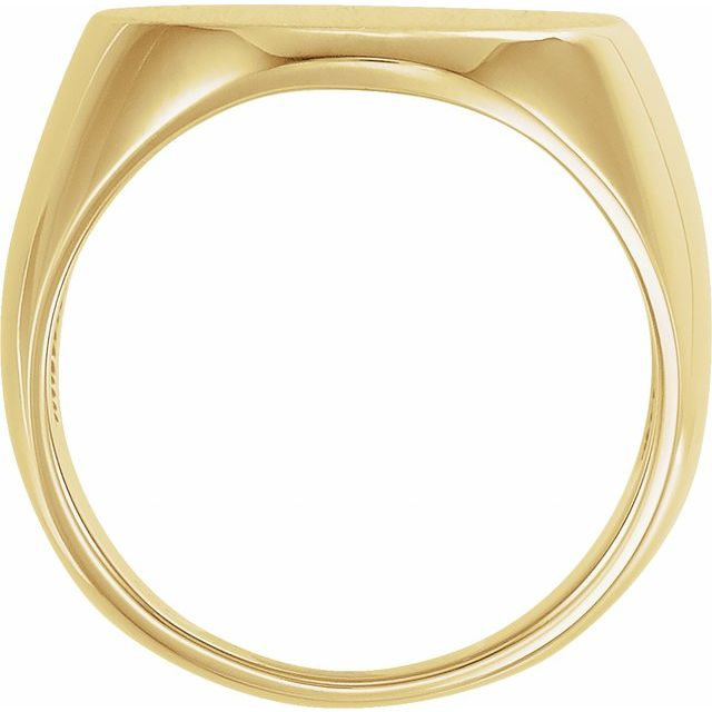 14K Yellow 27x19 mm Oval Signet Ring