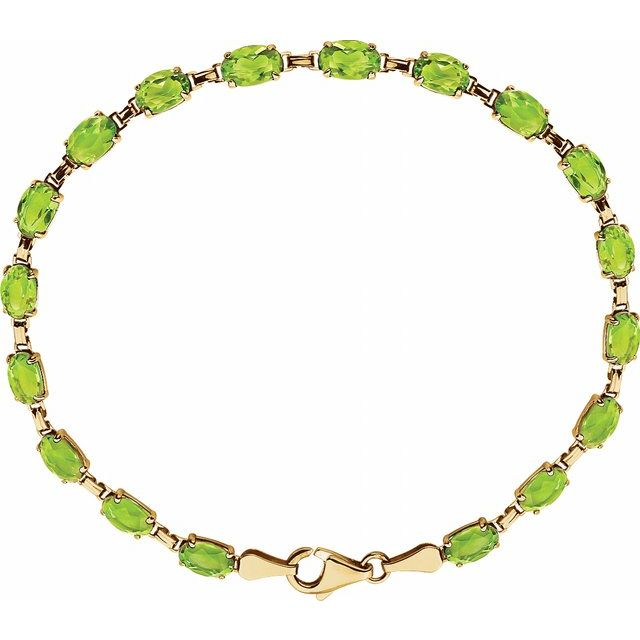 14K Yellow Peridot 7.25