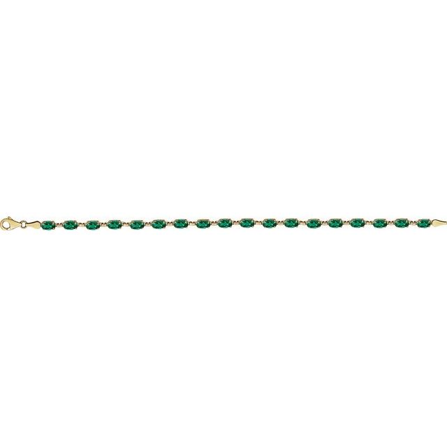 14K Yellow Lab-Grown Emerald 7.25