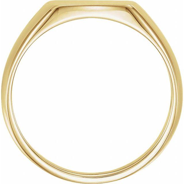 14K Yellow 13x12 mm Rectangle Signet Ring