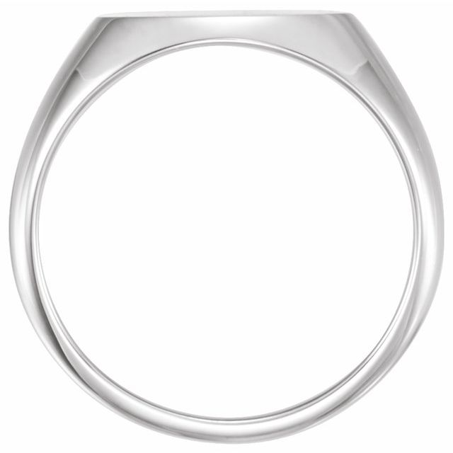 Sterling Silver 14x12 mm Oval Signet Ring