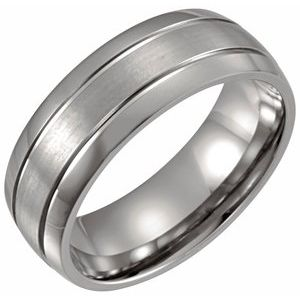 Titanium 8 mm Band Size 8