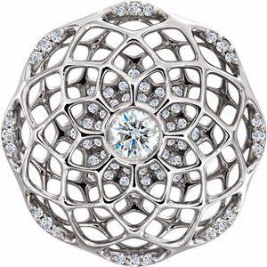 Platinum 1/2 CTW Diamond Cage Pendant