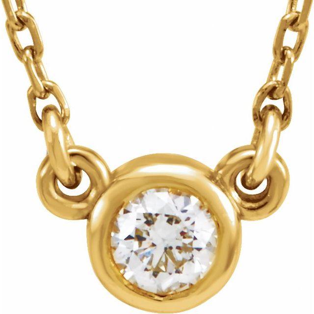 14K Yellow 1/4 CT Natural Diamond Solitaire 18