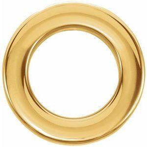 14K Yellow 13 mm Circle Slide Pendant