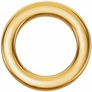 14K Yellow 15 mm Circle Slide Pendant