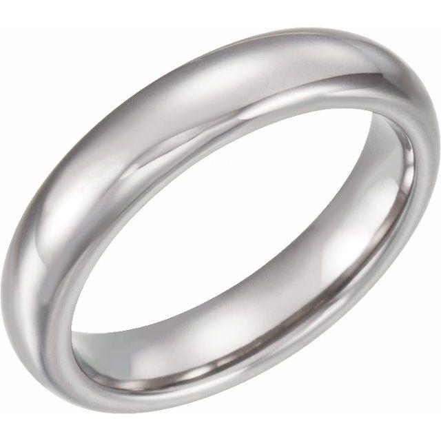 Tungsten 4 mm Half Round Band Size 6.5