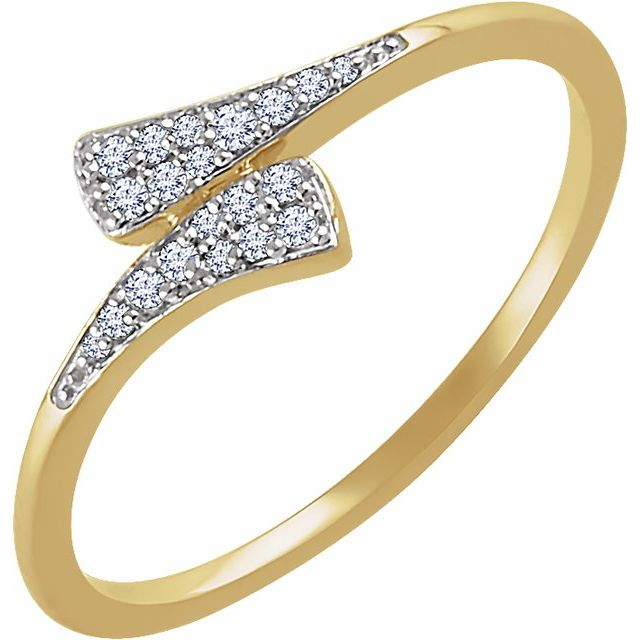 14K Yellow 1/10 CTW Diamond Ring