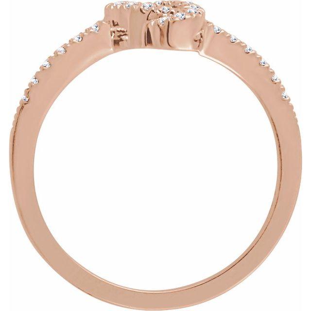 14K Rose 1/6 CTW Natural Diamond Knot Ring