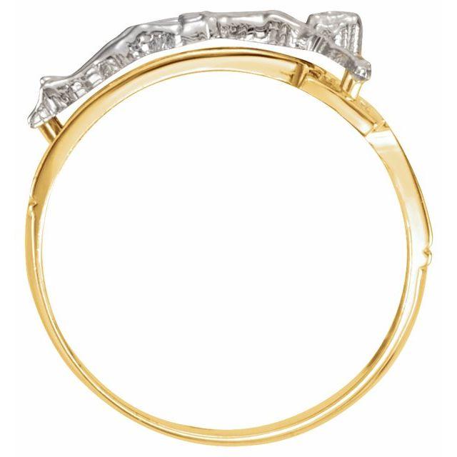 14K Yellow/White 20.2 mm Crucifix Ring