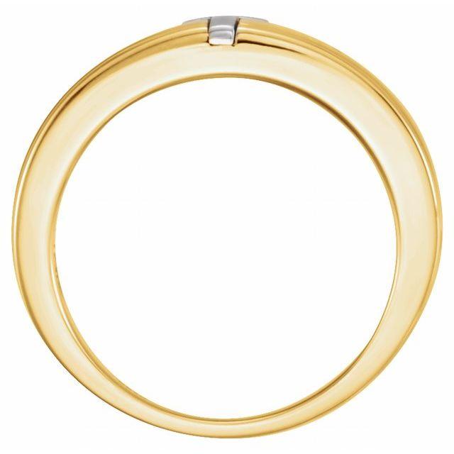 10K Yellow/White 7.6 mm Cross Band