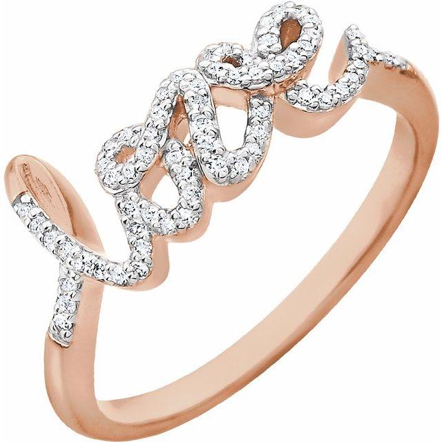 14K Rose 1/6 CTW Diamond Ring