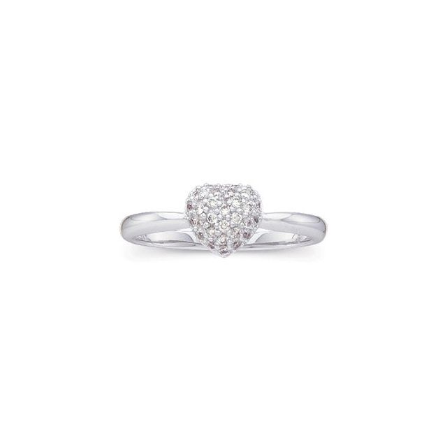 Diamond Heart Ring Finger Size 7