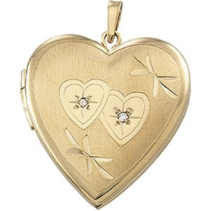 14K Yellow Heart Locket