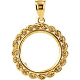 17.9x1.2 mm Tab Back Rope Coin Frame Pendant