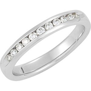 1/4 CTW Diamond Channel-Set Anniversary Band