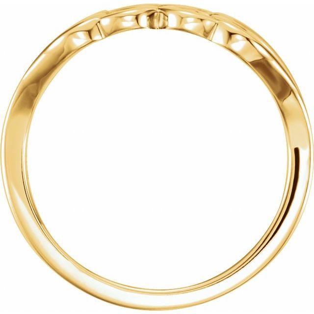 14K Yellow Heart Ring