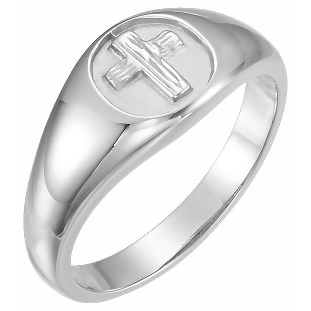 Sterling Silver The Rugged Cross® Chastity Ring Size 9