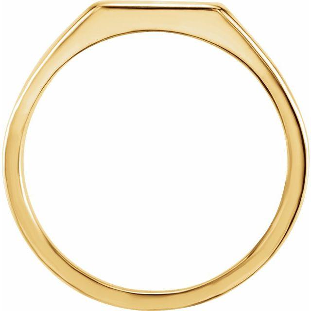 14K Yellow 11x10 mm Rectangle Signet Ring