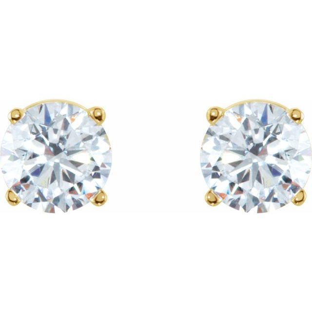 14K Yellow 1 CTW Natural Diamond Earrings