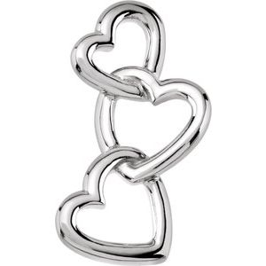 Sterling Silver Linked Hearts Pendant
