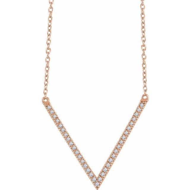 14K Rose 1/6 CTW Diamond