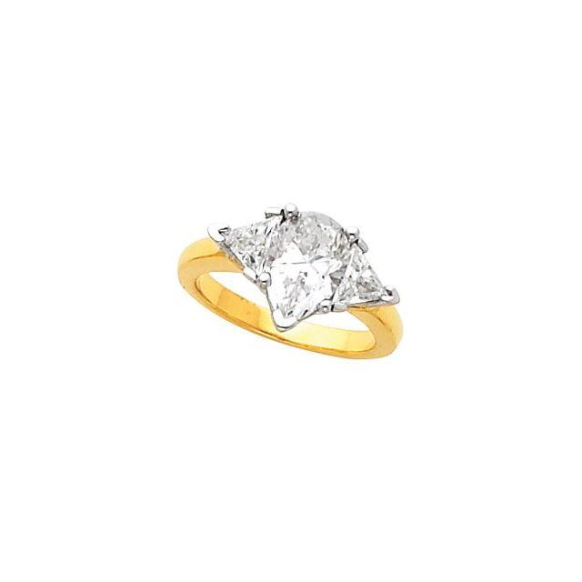 14K White Bridal Band for 7x5 mm Engagement Ring