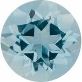 Round Genuine Aquamarine