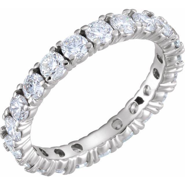 14K White 1 3/4 CTW Diamond Eternity Band Size 4