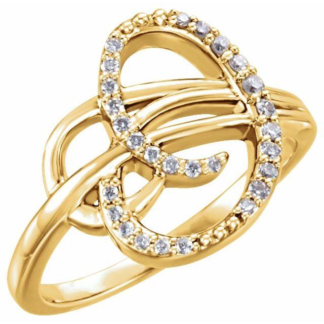 14K Yellow 1/6 CTW Diamond Ring