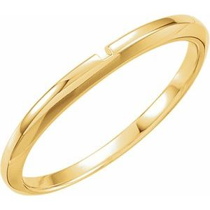 14K Yellow #2 Matching Band with One-Notch