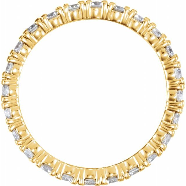 14K Yellow 1 1/3 CTW Diamond Eternity Band Size 4.5