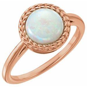 14K Rose Opal Ring