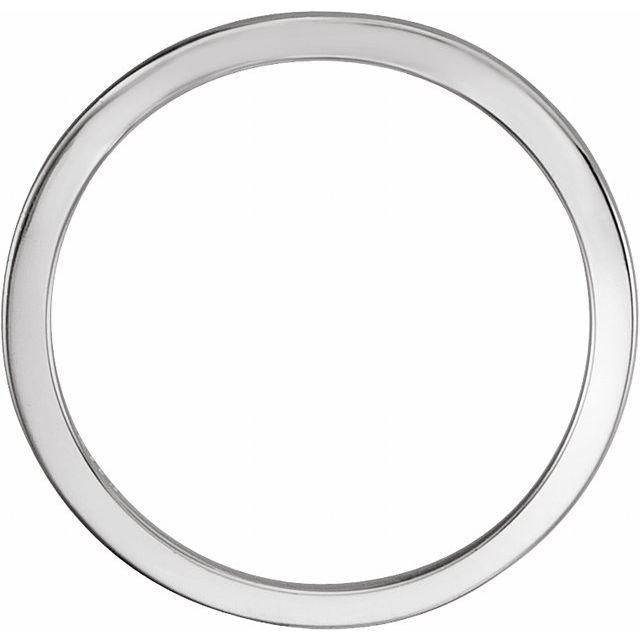 14K White 7x5 mm Band