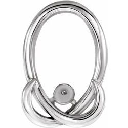 85837 / Continuum Sterling Silver / Pendant / Mounting / 04.00 Mm / Polished / Mothers Hugz Pendant For Pearl