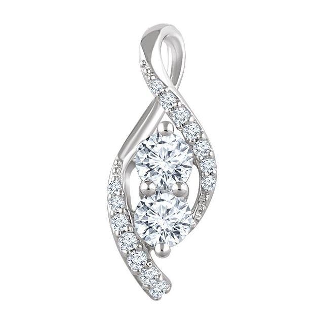 14K Yellow 1/5 CTW Diamond Pendant