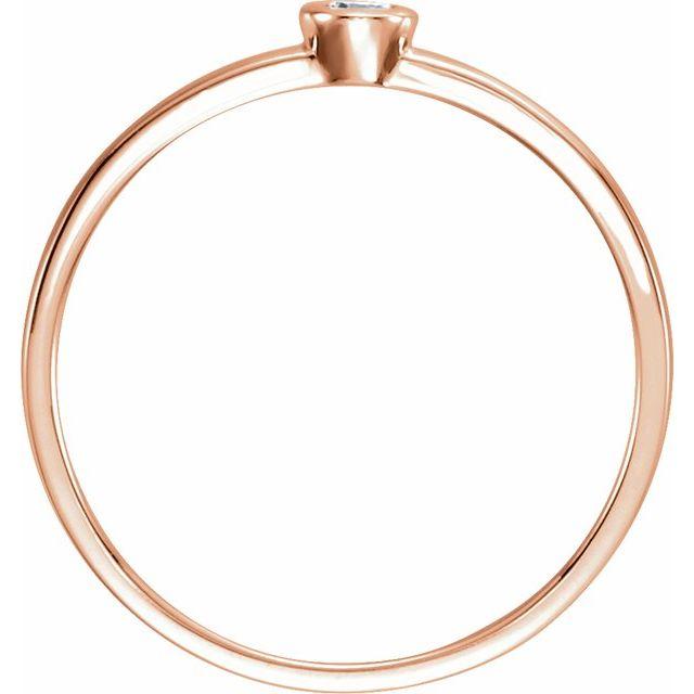 14K Rose .06 CTW Diamond Bezel-Set Solitaire Ring