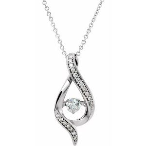 "14K White 3/8 CTW Diamond Mystara® 16-18""  Necklace"